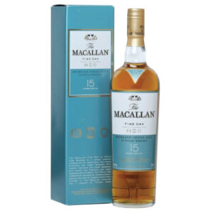 Macallan 15 years which is made up of the Macallan fine oak and the macallan Double Cask Bourbon which is a fine Whiskey collection for consumption